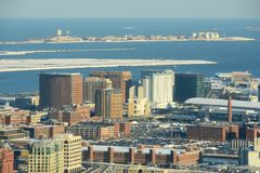 Boston-Seehafen-Bezirk, Boston, Massachusetts, USA Lizenzfreie Stockfotografie