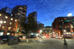 BOSTON SEPT 9, 2016: Boston Massachusetts downtown buildings cit Stock Photos