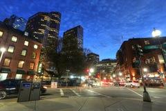 BOSTON SEPT 9, 2016: Boston Massachusetts i stadens centrum byggnader cit Arkivfoton