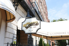 BOSTON, SEPT. 9: Cheers Restaurant Bar Signage Founded in 1969 a Stock Image