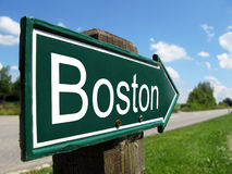 BOSTON signpost. Along a rural road Royalty Free Stock Photos