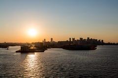 Boston Sillouette Stock Photo