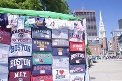 Boston skjortor och gator   Arkivbilder