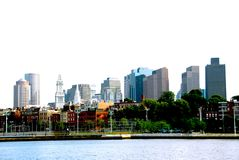 Boston skyline. On a summer day Royalty Free Stock Photography