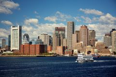 Boston skyline. Massachusetts Bay royalty free stock photography