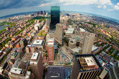 Boston Skyline. View of Boston's Skyline from the top of the Prudential building in Massachsetts, USA Stock Photo