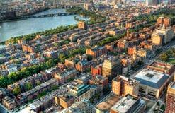 Boston Skyline. Aerial view of Boston in Massachusetts, USA Royalty Free Stock Photography