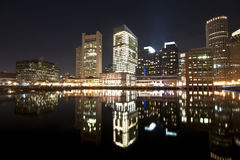 Boston skyline. A shot of boston at night Stock Photo