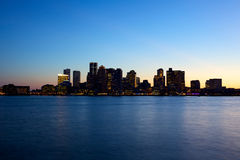 Boston skyline. Sunset view of Boston skyline Stock Photo