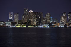 Boston Skyline 2. Horizontal image of downtown Boston with water in the foreground royalty free stock photos