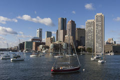 Boston-Skyline Stockbilder