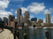 Boston skyline. Beautiful shot of the Boston skyline stock images