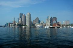 Boston Skyline. From Boston Harbor Royalty Free Stock Photos