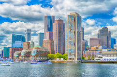 Boston Skyline. As seen from the Bay stock photos