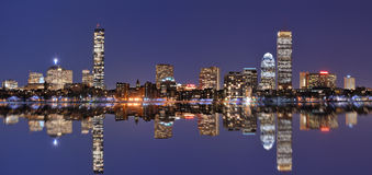 Boston Skyline at Back Bay royalty free stock images