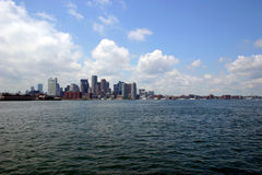 Boston Skyline and Bay. Boston Skyline in background with the Bay water and clouds Stock Image