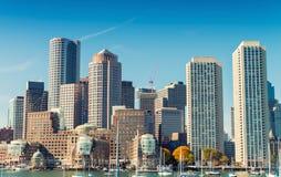 Boston skyline on a beautiful day - MA Stock Image