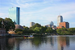 Boston Skyline on the Charles Royalty Free Stock Photo
