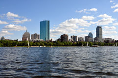 Boston skyline from Charles river Stock Images