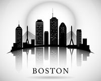 Boston skyline. City silhouette Royalty Free Stock Photography