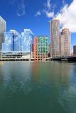 Boston skyline. City view in Massachusetts, USA stock photo