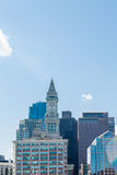 Boston Skyline Clock Tower Stock Photography