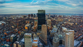 Boston Skyline Daytime. Boston Skyline at Daytime with Aerial View Royalty Free Stock Image
