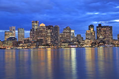 Boston skyline at dusk, USA Stock Photo