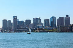 Boston skyline from East Boston, Massachusetts Stock Images