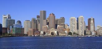 Boston skyline and harbor stock photos