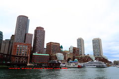 Boston Skyline Harbor View Royalty Free Stock Photo