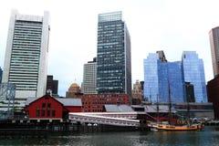 Boston Skyline Harbor View Stock Photos