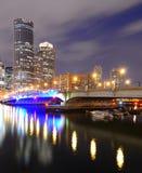 Boston Skyline from Harborwalk Royalty Free Stock Photography