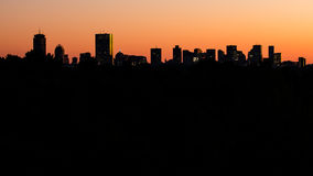 Boston-Skyline im Schattenbild Stockbild