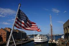 Boston skyline, Inner Harbor, USA Royalty Free Stock Photo