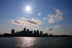 Boston skyline, Inner Harbor, USA Royalty Free Stock Photo