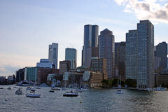 Boston skyline, Inner Harbor, USA Royalty Free Stock Photography