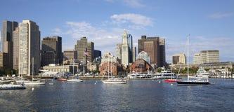 Boston skyline, Inner Harbor Stock Photos