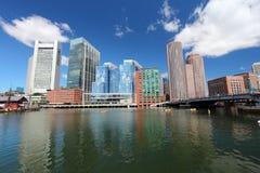 Boston skyline. Massachusetts in the United States stock photos