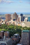 Boston Skyline, Massachusetts, USA. Boston Custom House, Financial district and Back Bay, from top of Prudential Center, Massachusetts, USA royalty free stock photography