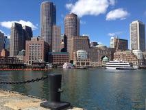 Boston Skyline. In Massachusetts, USA stock images