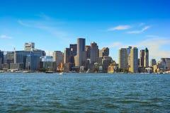 Boston skyline, Massachusetts, USA. Boston skyline on a sunny summer day, Massachusetts, USA Royalty Free Stock Photography