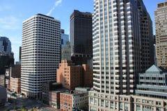 Boston-Skyline mit Wolkenkratzern Stockfotografie