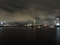 Boston Skyline at Night royalty free stock image