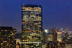 Boston Skyline at night, Massachusetts, USA Stock Photography