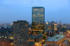 Boston Skyline at night, Massachusetts, USA Stock Image