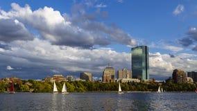 Boston Skyline over Charles River royalty free stock photos