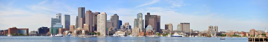 Boston Skyline panorama Royalty Free Stock Photography