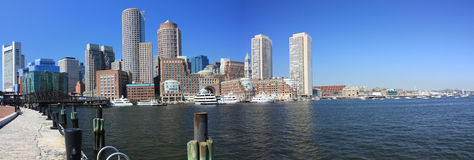Boston-Skyline-Panorama Stockfoto