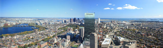 Boston Skyline Panorama Stock Photography
